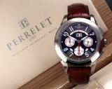 Perrelet 'Chronograph'. Men's watch, titanium, with carbon dial - box + certificate 2013
