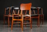 Dansk design. Seks stole i teak (6)