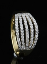 18kt diamond ring approx. 0.48ct