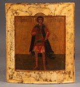 Russian icon depicting St. George, 17th century