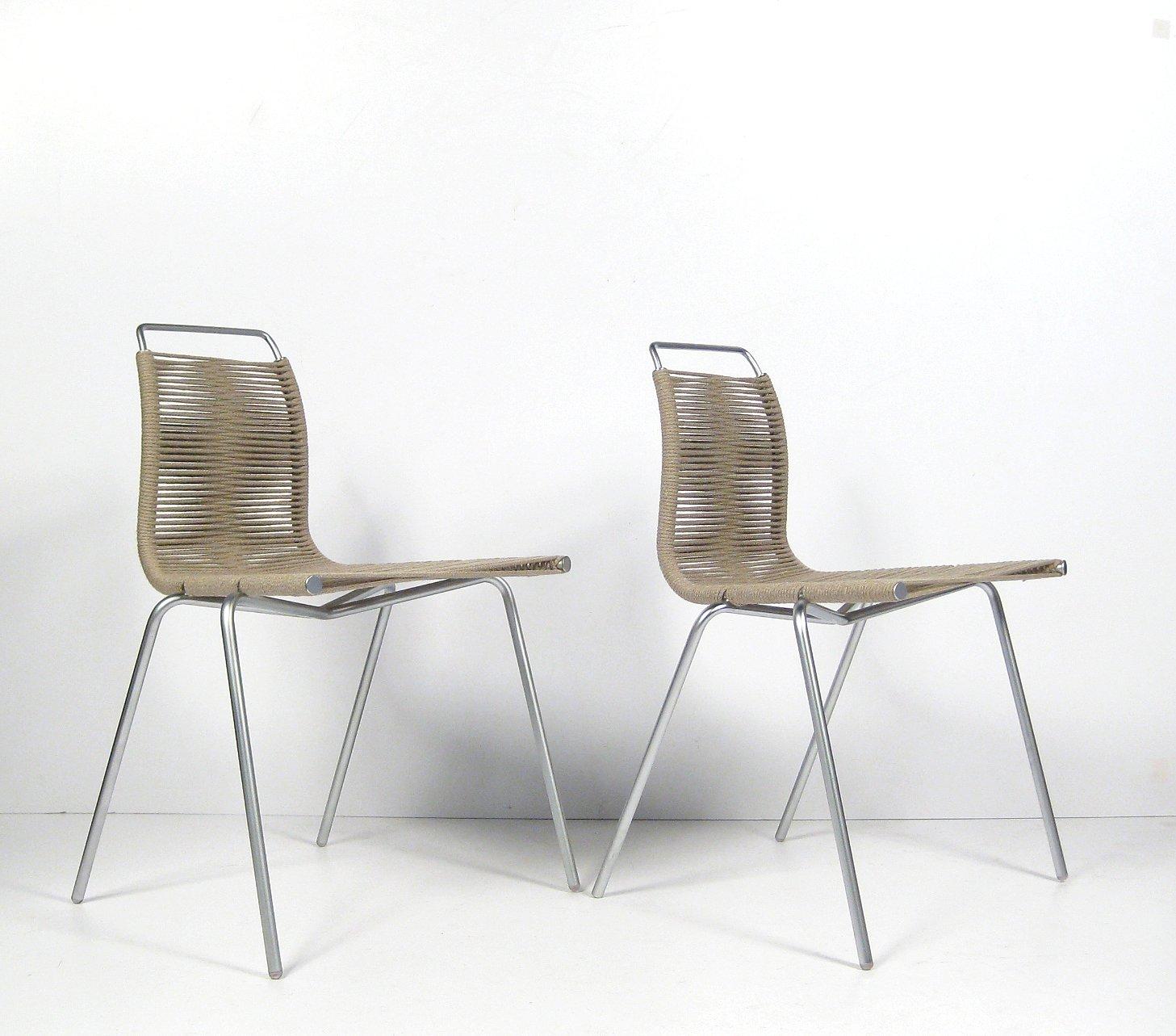 Poul Kjærholm, par stole model PK 1 fra Thorsen Møbler (2