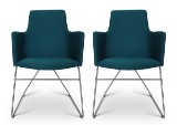 Niels Gammelgaard. Pair of  'Fortuna' chairs, petroleum-coloured(2)