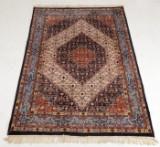 Indisk tæppe, 238x162 cm.