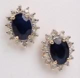 Par safir- og diamantørestikkere (2)