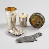 Bägare nålfat såsslev i silver