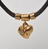 Pompus - Halskæde med vedhæng af 14 kt. guld med brillant på ca. 0,03 ct TW/VVS