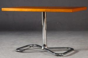 lot 4206290 beistelltisch tv tisch lowboard in chrom und teak. Black Bedroom Furniture Sets. Home Design Ideas