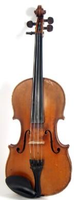 4/4 violin. Grandini Jerome Thibouville - Lamy&Co, Paris-London, early 20th century. Length approx. 35.8 cm