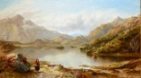 George F. Buchanan. Oil on canvas, subject from Loch Achry Perthshire