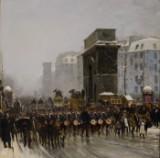 Paul Fischer efter Edouard Detaille. 'Le régiment qui passe', olie på lærred