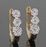 Diamond earrings in gold approx. 0.52ct