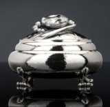 Georg Jensen. Magnolia bonbonnière, sterling silver, design no. 2. 3520825