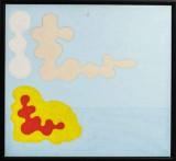 Poul Agger, akryl på duk, moln