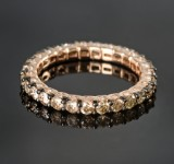 Eternity ring with diamonds, hallmarked, approx. 1.79 ct.