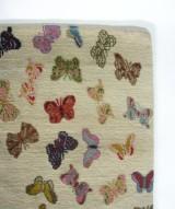 Jan Kath, designertæppe 'Little Butterfly Beige'