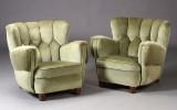 Dansk møbelproducent. Par lænestole, 1940'erne (2)