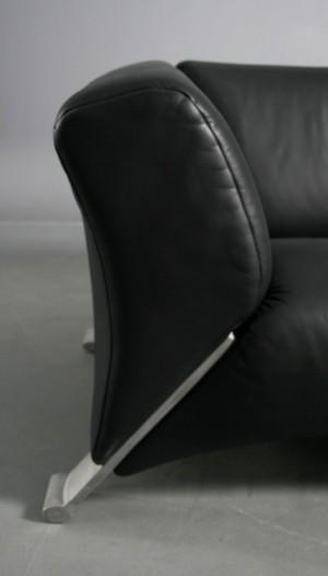 m bel rolf benz 2 sitzer ledersofa. Black Bedroom Furniture Sets. Home Design Ideas