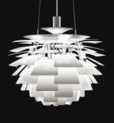 Poul Henningsen. Pendant light 'Artichoke', with 72 sheets in steel