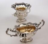 To russiske kaviar / sukker skåle af sølv 1850erne (2)