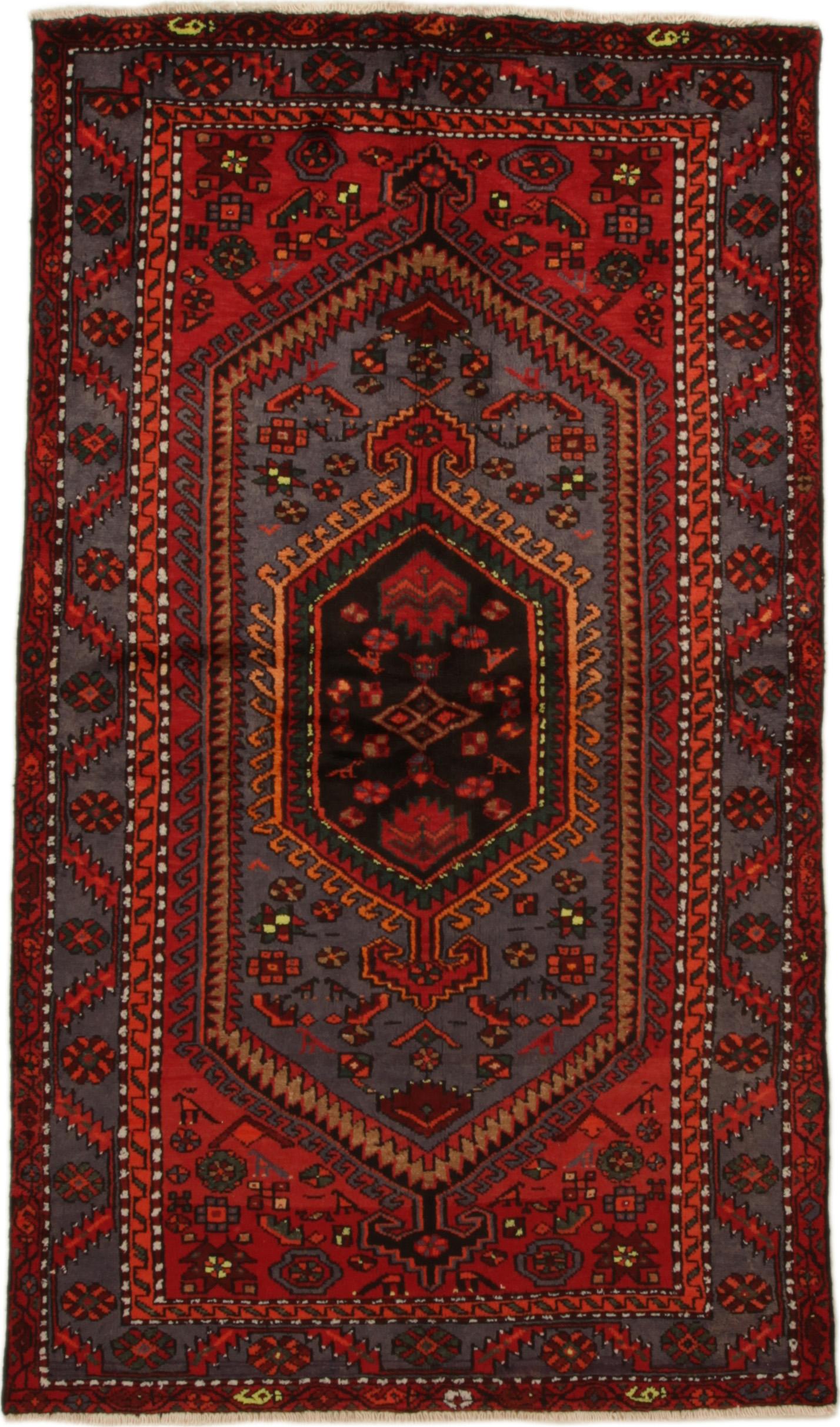 Persisk Zandjan tæppe, 217x127 cm - Persisk Zandjan tæppe, uld på bomuld. 217x127 cm