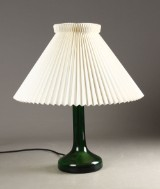 Holmegaard, bordlampe, grønt glas