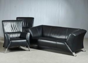 Rolf Benz. Freistehendes Sofa und Paar Sessel Modell 322 (3 ...