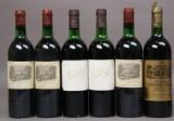 3 fl. Lafite Rothschild 1978, 2 fl. Ch. Margaux 1978 samt Ch. Cantenac Brown 1976 (6)