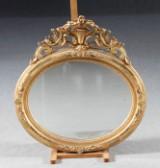 Spegel, bronserad och förgylld, nyrokoko, 1800-talets senare del
