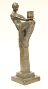 Ljusstake, brons, Art Decostil