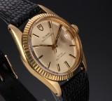 Tudor 'Prince Oysterdate'. Vintage men's watch, 18 kt. gold, c. 1971