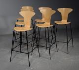 Arne Jacobsen. Barhocker 'Munkegaard'/'Die Mücke' (6)