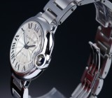 Cartier 'Ballon Bleu'. Unisex watch, steel with silver-coloured dial, 2010s