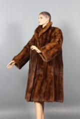 Russian, light reddish-brown sable coat, size 38/40