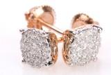 Diamant ørestikker, 14 kt rosaguld ca. 0.32 ct.