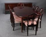 Danish furniture producer. Dining suite, mahogany (11)