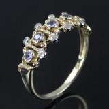 Tanzanite- og diamantring