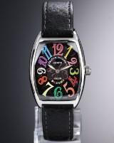 Franck Muller 'Cintrée Curvex Color Dreams'. Unisexur i stål med sort skive, 2010'erne