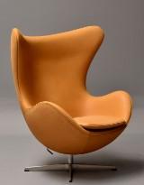Arne Jacobsen. Lounge lænestol 'Ægget', model 3316 i 'Nubuck' anilin læder