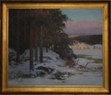 Carl Brandt, Vinterlandskap, oja på duk, 1919