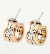 Et par Georg Jensen Fusions brillantørestikker af trefarvet 18 kt. guld (2)
