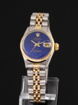 Rolex Datejust. Vintage ladies watch, 18 kt. gold and steel, c. 1966