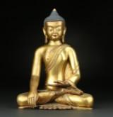Gilt bronze Buddha, Tibet, 20th century