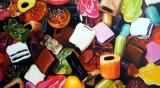 Michael Loeb, oil painting, 'Haribo Color-Rado'