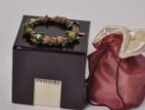 Pandora armlænke af 14 kt. guld med 13 charms, sikkerhedskæde + 4 af sølv