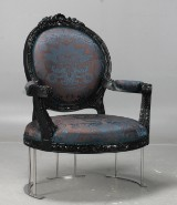 'Torö' armchair, and Gallery, silk upholstery