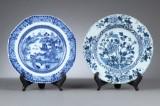 To tallerkener af porcelæn, Kina 1700-1800-tallet (2)