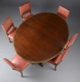 Martin Nyrup. Mahogany dining table and six chairs,  1910-1920 (7)