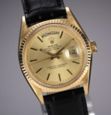 Vintage Rolex 'Day-Date' men's watch, 18 kt. gold, champagne-coloured dial, c. 1966