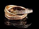 Cartier Trinity ring med brillanter - ca. 2.00 ct.