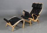 Hyndesæt til Bruno Mathssons Pernilla-stol. Sort (5)